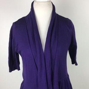 Worthington Cardigan size Medium Purple Cardigan